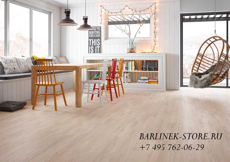 Паркетная доска Barlinek дуб Cappuccino Molti